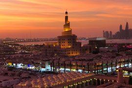 temperaturas do Qatar
